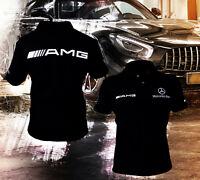 Handgemachte Mercedes AMG Benz T-Shirt Kragen Logo Emblem Polo T-Shirt S G GL ML