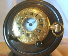 Vintage Pocket Watch 1970s Arnex 17J Carronade 12ct Gold Plated Half Hunter Fwo