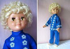 Russian Vintage Doll Zhenya, 65 cm. Plastic, Original, Marked Dnepr,Ussr,70s