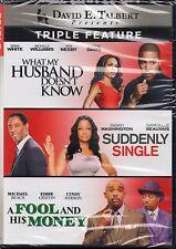 David E. Talbert: TRIPLE   What My Husband Doesn't Know/Suddenly Single. DVD NEW