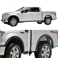 Fits 15-17 Ford F-150 4PCS ABS Textured Satin Black Fender Flares