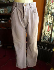 27x30 sz 11 True Vtg 70s HIGH WAIST GRAY LEE STRAIGHT CORDS JEANS USA