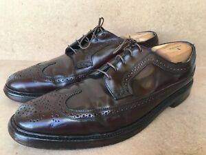 Vintage 🔥Florsheim Imperial Men Shoes 93605  Shell Cordovan Longwing SZ US 11 B