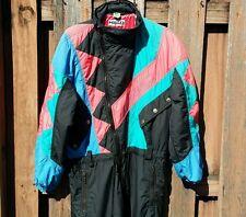 Retro HEAD Colorblock Snowboard Ski Suit One Piece Green Blue Pink 1pc sz L / 48