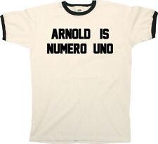 Arnold is Numero Uno T-Shirt - Arnie Schwarzenegger Pumping Iron Gym Fitness Tee