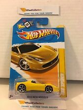 458 Spider #25 * Yellow * 2012 Hot Wheels * M2