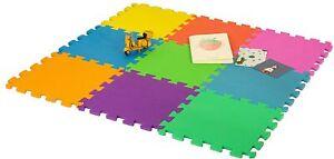 9 Pack Children Kids Foam Cushioned Floor Play Mat Multi Colour Interlocking