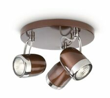 Philips MyLiving Ceiling Light 3 Spotlight - Brown - Include 3 X 35W Bulbs