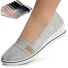 Laura Biagiotti Damen TurnSchuhe Gummizug Sneakers Weiß+Silber//Schwarz+Gold 5 cm
