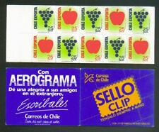 CHILE, NICE BOOKLET PANE - CHILE EXPORT SCOTT 830/31a