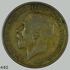 1920 GB, Great Britain 1/2 Penny, Half Penny, Half Cent, UK, English, England