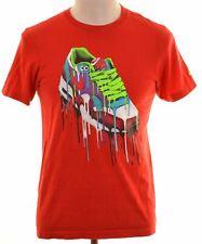 NIKE Mens Graphic T-Shirt Top XS Red Cotton Regular  NL47