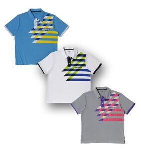 Adidas Youth Golf Fashion Performance Graphic Print Polo Shirts