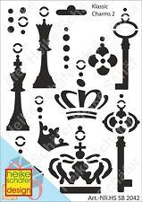 Schablone-Stencil A5 007-2042 Klassic Charms -Neu- Heike Schäfer Design