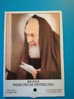 Reliquia beato padre Pio immagine ex INDUMENTO