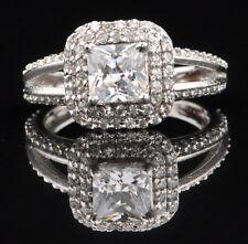 585er Weiß gold atemberauben Prinzessin Form 2,00Kt Solitär Verlobung Ring