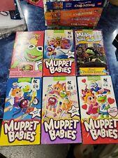 LOT 6 VTG 80s MUPPET BABIES MUPPETS VHS TAPES
