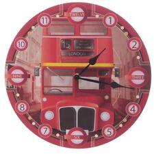 Bilderuhr London Doppelstockbus England GB UK Großbritannien Bus Uhr Wanduhr