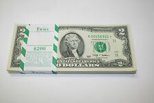 Uncirculated 2009 Two Dollar Star Notes FRB Dallas $2 Bills Low Serial Numbers