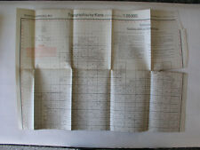 Reichsamt Landesaufnahme Übersichtsblatt~1939 Topographische Karte Meßtischblatt