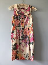 Primark Atmosphere Floral Shift Dress UK10 EUR38 Wedding Summer Pink Peach Green