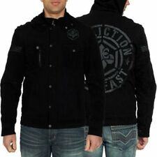 AFFLICTION FREE RIDE LIVE FAST MOTO JACKET HOODED MENS SIZE SMALL NEW WITH TAGS