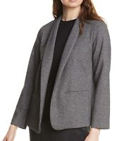 Eileen Fisher Women's Blazer Gray Size Large L Open Front Shawl Collar $298 #188