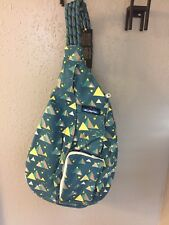 Kavu Rope Sling Backpack Purse Bag - Night Camping Theme - New w/ Tags