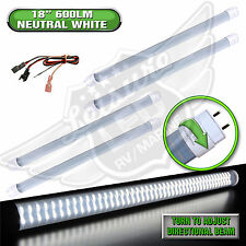 "4x LED T8 Tube Replacement Light 18"" 600 LUMEN RV Marine 8-30v 12v Neutral White"