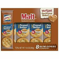 Lance Malt Crackers With Real Peanut Butter Sandwich
