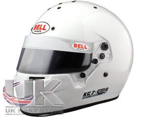 Go Kart Bell KC7-CMR Kart Helmet 54 White Karting Race Racing