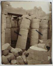 GRANDE PHOTO EGYPTE H. ARNOUX KARNAK colonnade inclinée retirage ancien EG114