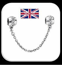 Safety Chain 925 Sterling Silver European Bead Charms Fit Bracelet Style 86