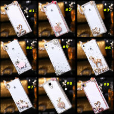 Bling Diamonds Back Soft Phone Covers Cases + Long Crystals Strap For BlackBerry