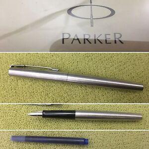 Parker Pen Jotter Fountain Pen SS CT Plus Free Zipit Monster Pouch