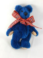 "World of Miniature Bears By Theresa Yang 3"" Mohair Pin Bear Blue #499BL CLOSING"