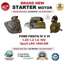 Para Ford Fiesta IV V VI 1.25 1.4 1.6 16 V Deporte LPG 1995-ON motor de arranque Starter 10 dientes