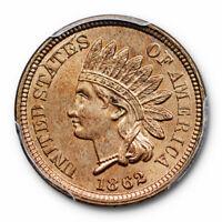 1862 1C Indian Head Cent PCGS MS 64 Uncirculated Copper Nickel Cert#7837
