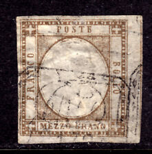 SICILY, ITALIAN STATE, #20b ½g GREY BROWN, 1861 IMPERF, F, USED