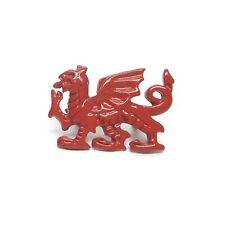 Dragon Gallois Rouge Métal Revers Broche Badge Galles Cymru Neuf avec Étiquette