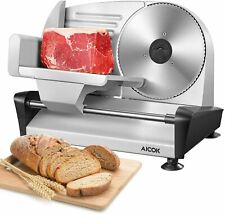 More details for stainless steel electric meat slicer specialist cutting machine for meats cheese