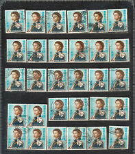 Hong Kong $1.30 Queen Elizabeth II Scott 213 lot of 30 used stamps cancels etc