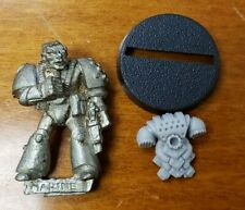 Warhammer 40k Space Marine Metal Bits: Rogue Trader Marine w/Bionics