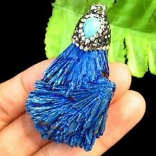 Sapphire Titanium Crystal Agate Druzy Quartz Geode Freeform Pendant Bead Random