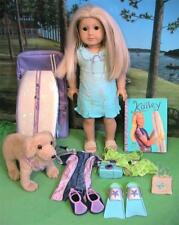 American Girl Doll of the Year 2004 Kailey w  Outfits, Surfboard, ETC.