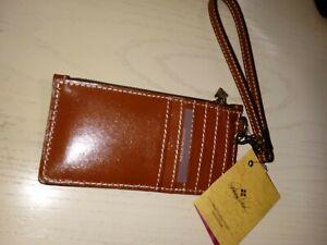 Patricia Nash~Almeria~Credit Card Wristlet Wallet~Veg Tan~NWT