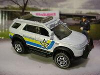 2015 POLICE SQUAD Design FORD EXPLORER☆White;Yellow/Blue;Sheriff☆LOOSE☆Matchbox