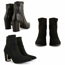100% Leather Slip On Ankle Boots for Women