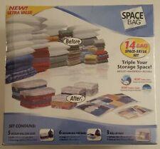 New SPACE BAG 14 Vacuum Seal Airtight Waterproof Space Saver Set Bags