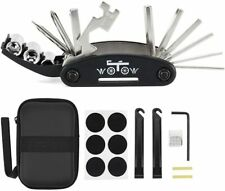 WOTOW 16 in 1 Multi-Function Bike Bicycle Repair Tool Kit Allen Wrench With Tire